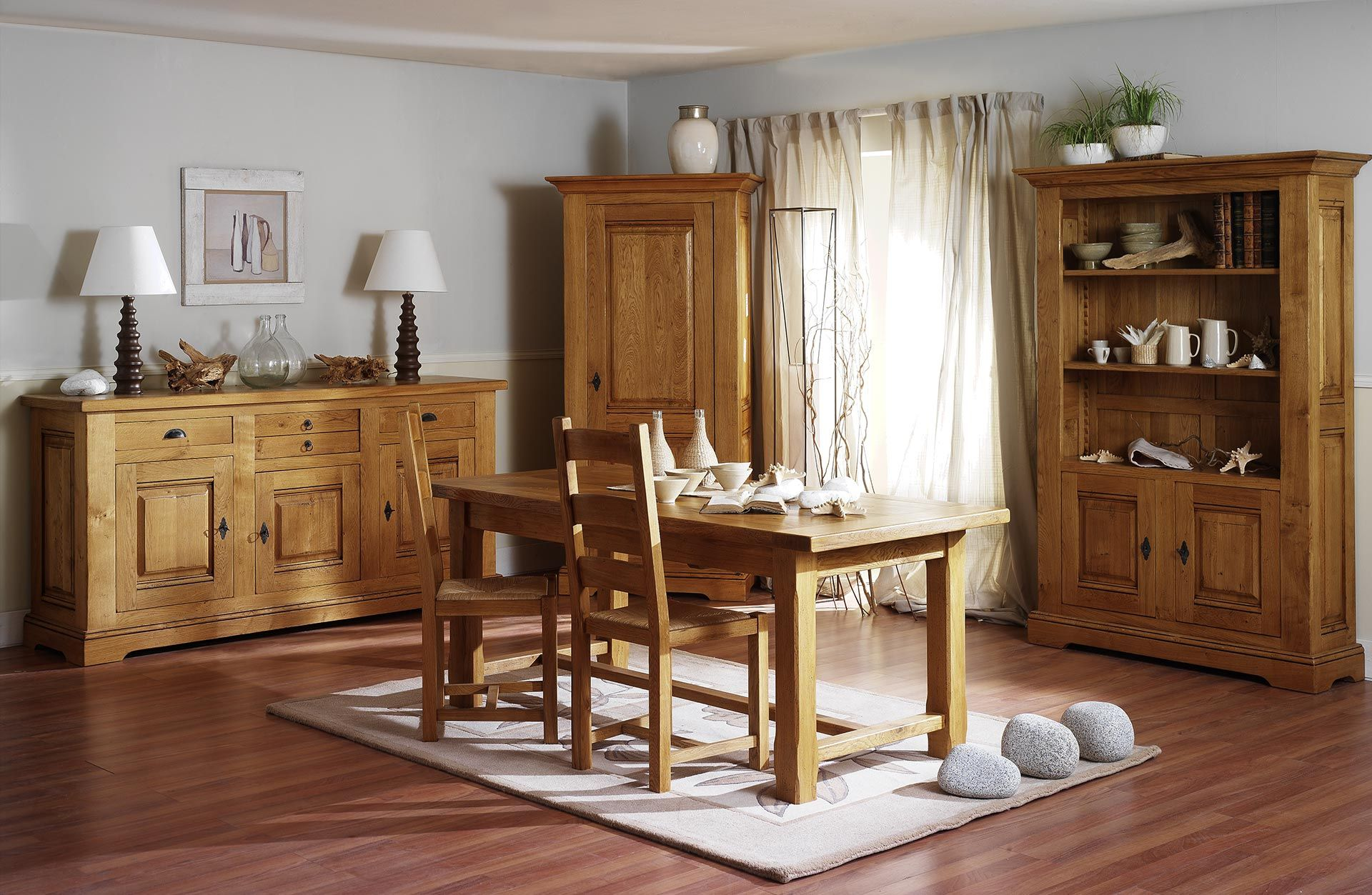 salle manger ch ne massif campagnarde actuelle. Black Bedroom Furniture Sets. Home Design Ideas